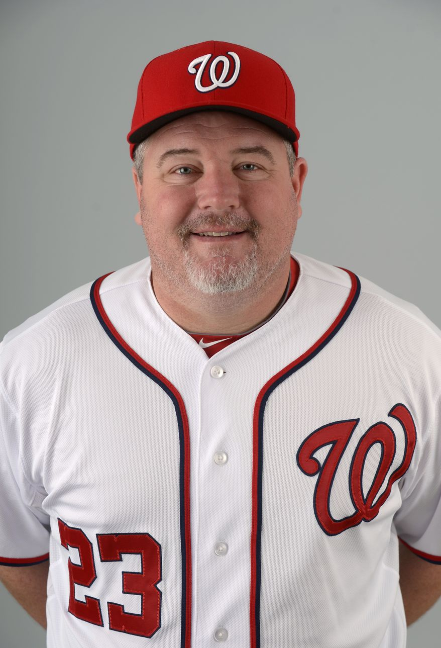 This is a 2013 photo of Matt Lecroy of the Washington Nationals baseball team. This image reflects the Nationals active roster as of Feb. 20, 2013 when this image was taken.(AP Photo/Phelan M. Ebenhack)