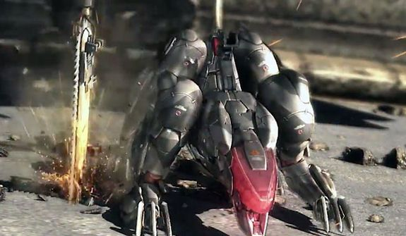 Meet Blade Wolf, a dangerous mechanical pet with a chainsaw from the video game Metal Gear Rising: Revengeance.