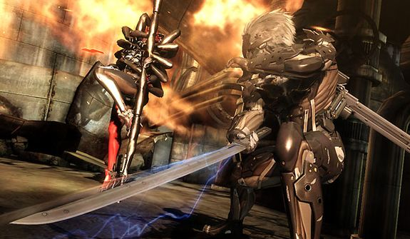 Combat is fierce and brutal in the video game Metal Gear Rising: Revengeance.