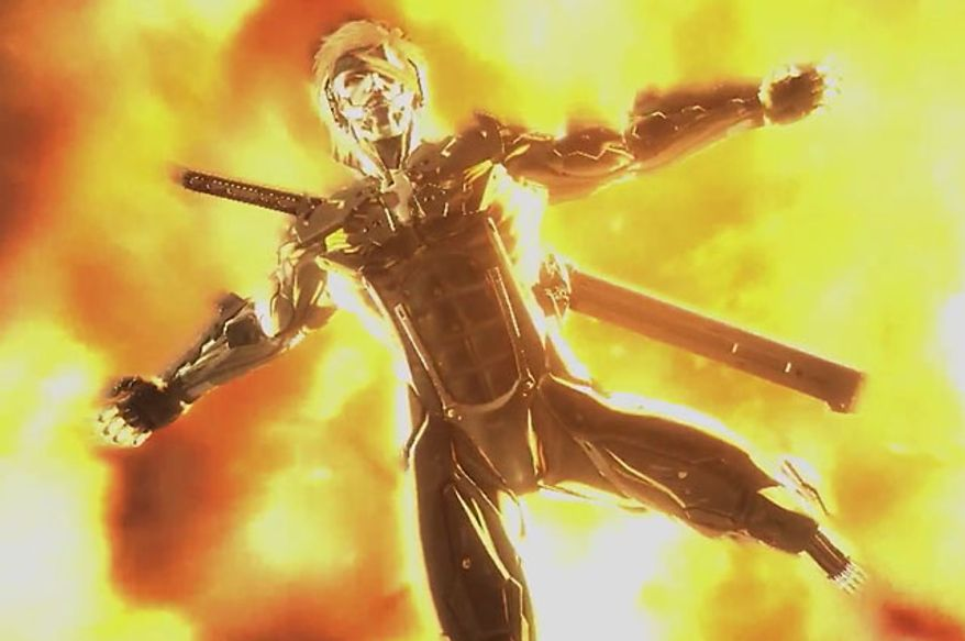 A player will find plenty of explosive moments in the video game Metal Gear Rising: Revengeance.