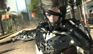 Our hero Raiden has a metal jaw and large sword in the video game Metal Gear Rising: Revengeance.
