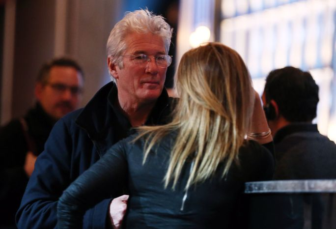 Actor Richard Gere (left) attends rehearsals for the 85th Academy Awards in Los Angeles on Saturday, Feb. 23, 2013. The Oscars will be presented on Sunday. (Matt Sayles/Invision/AP)