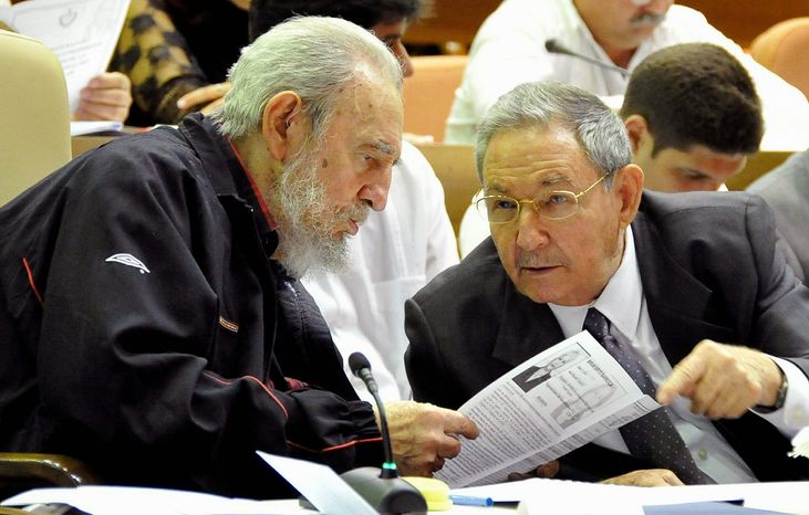 Fidel Castro (left) and his brother, Raul, have been the only two rulers Cuba has known since 1959. Raul, the current Cuban president, said Sunday that he will relinquish power by the end of his recently begun five-year term. The U.S. State Department met the news with a lukewarm reaction. (Associated Press)