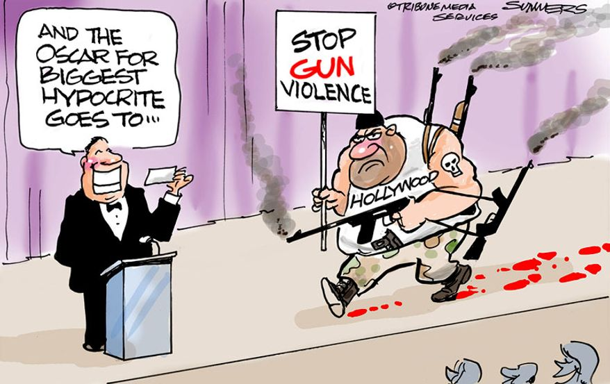 And the Oscar for biggest hypocrite goes to ... (Illustration by Dana Summers for the Orlando Sentinel)