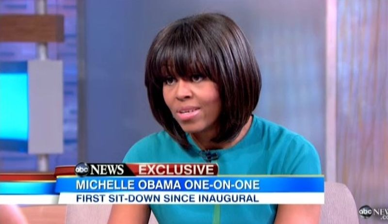 """First Lady Michelle Obama on ABC News' """"Good Morning America"""" talking about gun control. Jan. 26, 2013"""