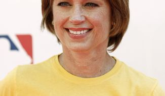 "** FILE ** Dorothy Hamill arrives at the ""Stand Up To Cancer"" television event at Sony Studios in Culver City, Calif., on Friday, Sept. 10, 2010. (AP Photo/Matt Sayles)"