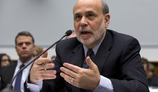 Federal Reserve Chairman Ben S. Bernanke testifies on Capitol Hill in Washington on Wednesday, Feb. 27, 2013, before the House Financial Services Committee. (AP Photo/Carolyn Kaster)