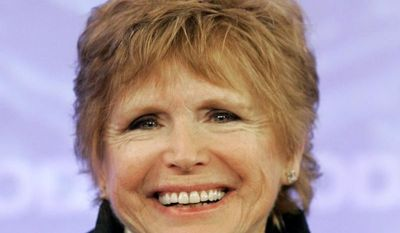 "**FILE** Bonnie Franklin, of the 1970's sitcom ""One Day at a Time,"" appears with the reunited cast on the the NBC ""Today"" television program in New York on Feb. 26, 2008. (Associated Press)"