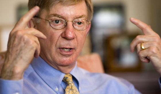 "Columnist George Will, who quit the Republican Party when Mr. Trump won the presidential nomination, went so far as to urge conservatives to vote Democrat in this year's midterm elections to gut the party, which he said had become Mr. Trump's ""plaything."" (Associated Press/File)"