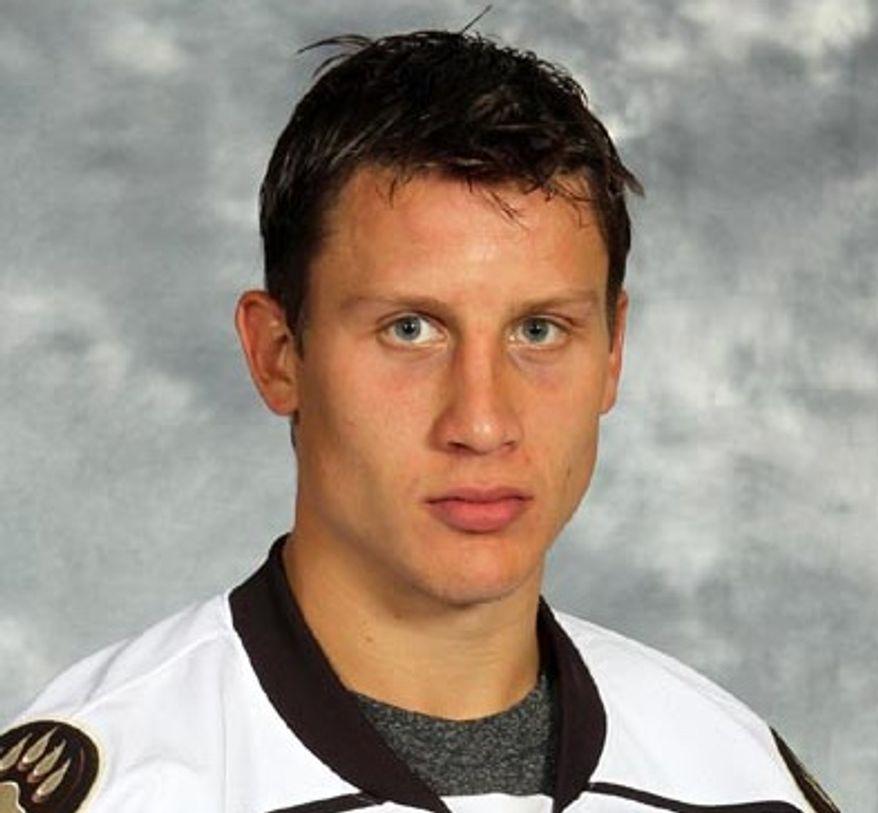 Steven Oleksy (Photo courtesy the Hershey Bears)