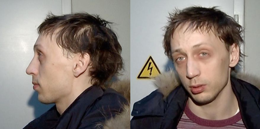 """In this combo frame grab taken from video supplied by the Moscow Interior MInistry branch website on Wednesday, March 6, 2013, 29-year-old Pavel Dmitrichenko, the star Russian ballet dancer is seen in Moscow. Dmitrichenko, who most recently played the title role in """"Ivan the Terrible"""" at the famed Bolshoi Theater, has confessed to the acid attack on the theater's ballet chief, Moscow police said on Wednesday. (AP Photo/ Moscow Interior MInistry branch website)"""