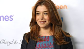 "Actress Alyson Hannigan from the CBS comedy ""How I Met Your Mother"" attends the March of Dimes Celebration of Babies in Beverly Hills, Calif., on Friday, Dec. 7, 2012 (John Shearer/Invision/AP)"