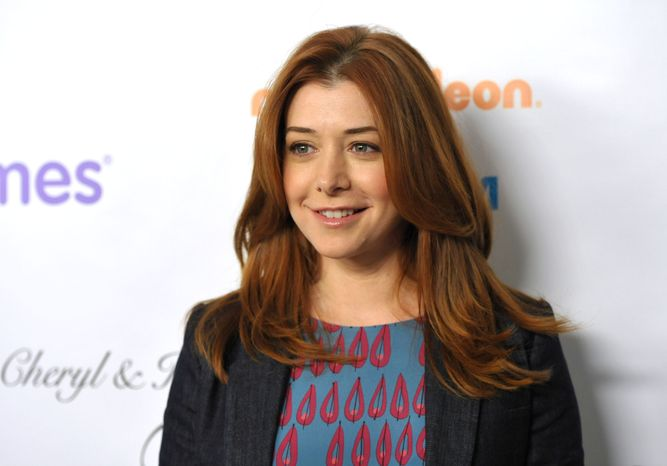"""Actress Alyson Hannigan from the CBS comedy """"How I Met Your Mother"""" attends the March of Dimes Celebration of Babies in Beverly Hills, Calif., on Friday, Dec. 7, 2012 (John Shearer/Invision/AP)"""