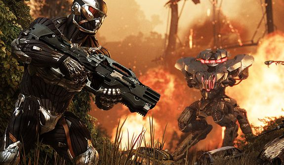 It's a battle for the planet as Prophet and his Nanosuit return in the video game Crysis 3.