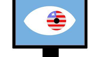 Illustration Internet Attacks by Alexander Hunter for The Washington Times