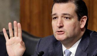 ** FILE ** Sen. Ted Cruz, Texas Republican. (Associated Press)