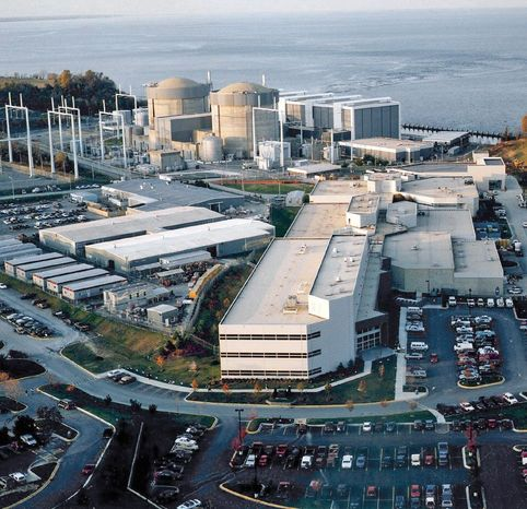 A proposal to build a third nuclear reactor at the Calvert Cliffs Nuclear Power Plant in Lusby, Md., was rejected Monday by the Nuclear Regulatory Commission. (Associated Press)