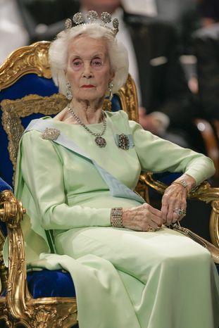 Princess Lilian of Sweden is seen in Stockholm in 2005. (AP Photo/Henrik Montgomery)