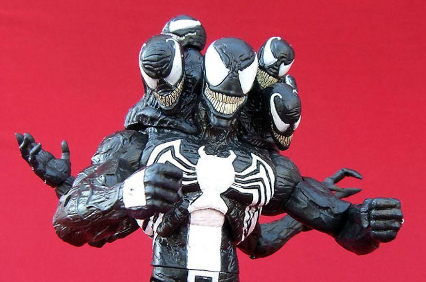 Diamond Select Toys' Venom smiles for the camera. (Photograph by Joseph Szadkowski / The Washington Times)