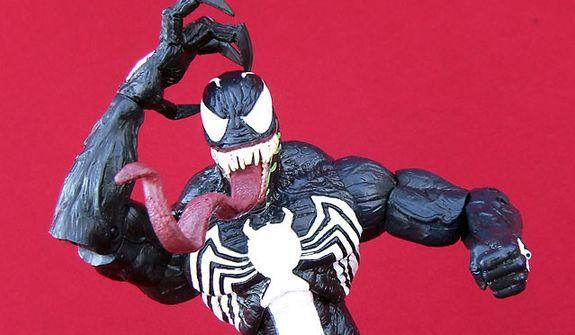 A crazed Venom From Diamond Select Toys (Photograph by Joseph Szadkowski / The Washington Times)