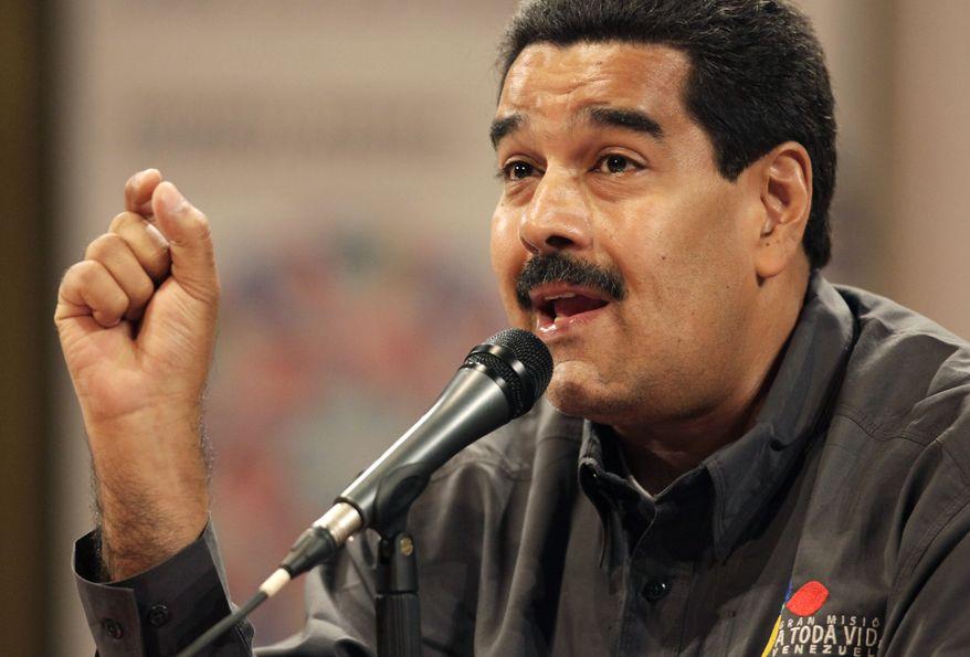 ** FILE ** Venezuelan President Nicolas Maduro (Associated Press)