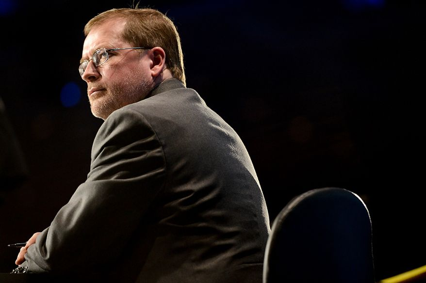 Americans for Tax Reform President Grover Norquist moderates a panel at this year's Conservative Political Action Conference (C.P.A.C.) held at the Gaylord National Hotel, National Harbor, Md., Thursday, March 14, 2013. (Andrew Harnik/The Washington Times)