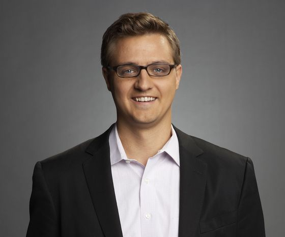 Chris Hayes of MSNBC is seen in an undated photo provided by MSNBC. Hayes will replace Ed Schultz, who is losing his prime-time show on MSNBC. (AP Photo/MSNBC)