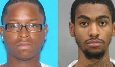 D.C. police are interested in speaking with 19-year-old Andrew Davon Allen (left) and 19-year-old Craig Wilson (right) in connection with a shooting early Monday that injured 13 people.