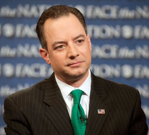 """""""I think that a lot of people in this country without party labels agree that we need to be pro-life, and lives are worth saving,"""" Reince Priebus, chairman of the Republican National Committee, told CNA at last week's annual March for Life. (CBS News via Associated Press)"""
