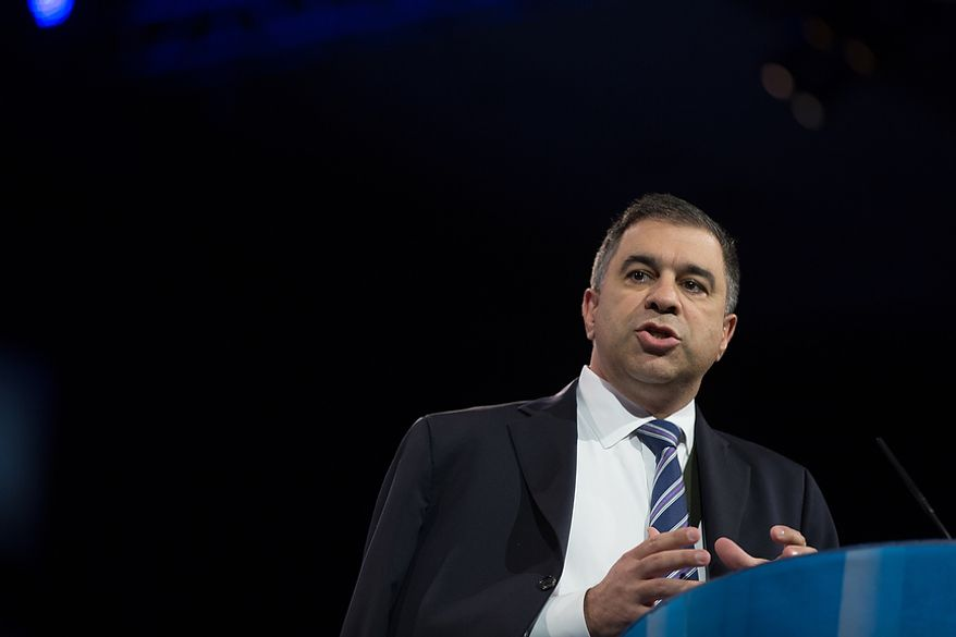 David Bossie, President, Citizens United (R), speaks at this year's Conservative Political Action Conference (C.P.A.C.) held at the Gaylord National Hotel, National Harbor, Md., Friday, March 15, 2013.(Andrew S. Geraci/The Washington Times)