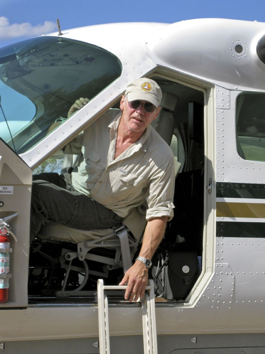 Actor Harrison Ford, an avid private pilot, arrives in Santo Domingo, Dominican Republic, for the Operation Smile relief effort for Haitian earthquake victims in 2010. Mr. Ford piloted his Cessna 208 Caravan to the Dominican capital for the airlift of medical volunteers and supplies into Hinche, Haiti. (AP Photo/Operation Smile)