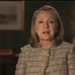"""This video framegrab provided by the gay rights advocacy group Human Rights Campaign shows former Secretary of State Hillary Rodham Clinton announcing her support for gay marriage, putting her in line with other potential Democratic presidential candidates on a social issue that is rapidly gaining public approval. Clinton made the announcement in an online video released March 18, 2013, by the Human Rights Campaign. She says in the six-minute video that gays and lesbians are """"full and equal citizens and deserve the rights of citizenship."""" (Associated Press/Human Rights Campaign)"""