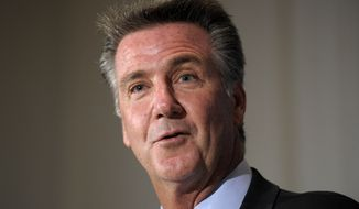 **FILE** Washington Redskins football General Manager Bruce Allen speaks at the National Press Club in Washington, Friday, Sept. 7, 2012. (AP Photo/Susan Walsh)