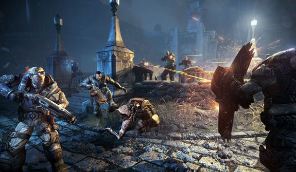 It's a near constant firefight in the video game Gears of War: Judgment.