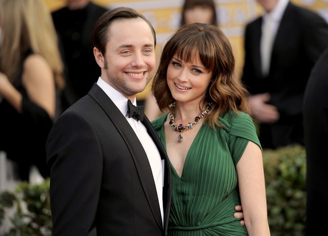 Actors Vincent Kartheiser and Alexis Bledel attend the 19th annual Screen Actors Guild Awards at the Shrine Auditorium in Los Angeles on Sunday, Jan. 27, 2013. (Chris Pizzello/Invision/AP)