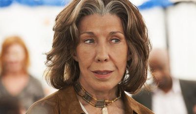 """Lily Tomlin portrays Susannah, a young-at-heart seventy-something feminist mother, in the comedy-drama movie """"Admission."""" (AP Photo/Focus Features, David Lee)"""