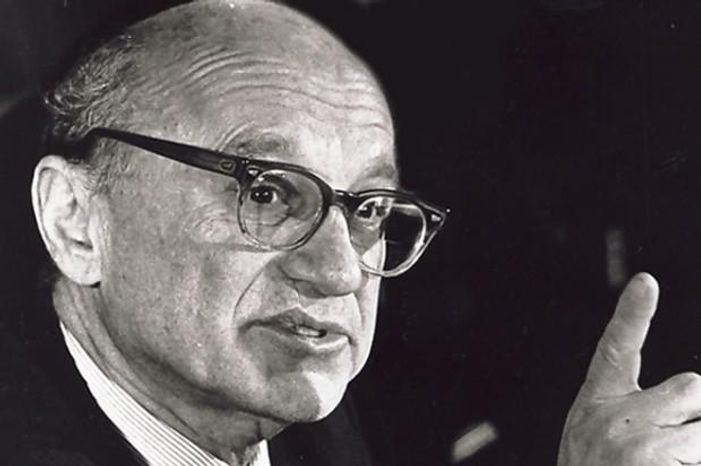 ** FILE ** Milton Friedman, one of the most famous economists and defenders of the free market, died in 2006. (Associated Press)