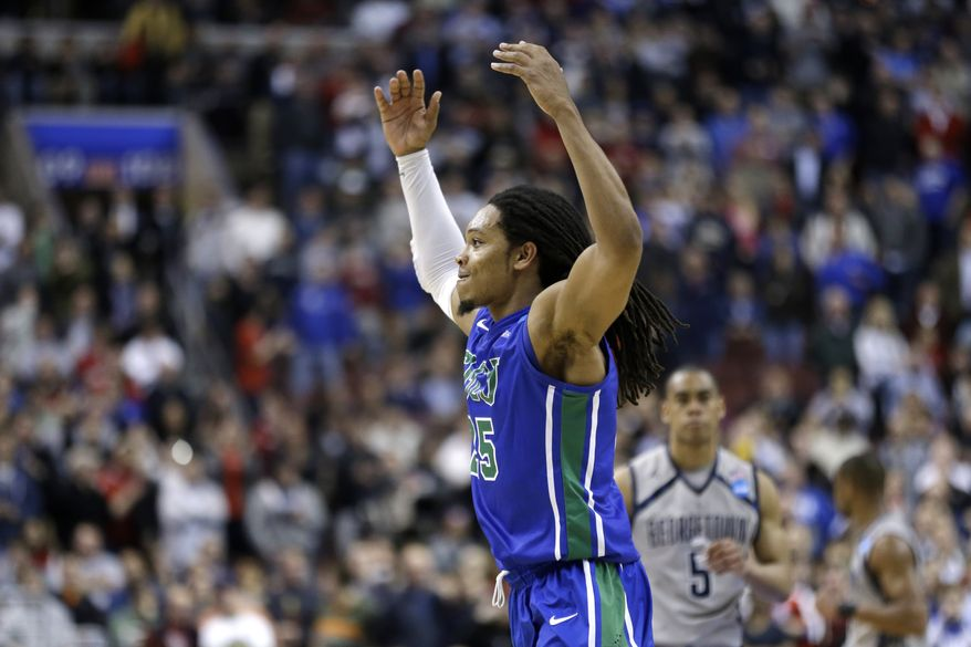 This was just FGCU's sixth Division I season and second in which it was eligible to play in the postseason. What made Friday night's victory over second-seeded Georgetown even more special for the 15th-seeded Eagles was history, or the absence of it.