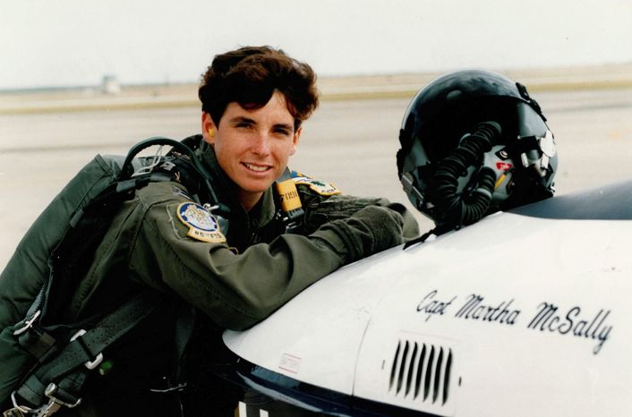 photograph courtesy of martha mcsally Then-Capt. Martha McSally was a T-37 instructor pilot at Laughlin Air Force base in Del Rio, Texas, when she was selected to become a fighter pilot.