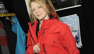 Singer-songwriter Crystal Bowersox is pictured at the Fender Music Lodge during the Sundance Film Festival in Park City, Utah, on Monday, Jan. 21, 2013. (AP Photo/Fender, Jack Dempsey)