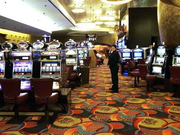 One of the slot machine rooms at the MGM Grand Hotel, which is part of the Foxwoods Resort Casino in in Mashantucket, Conn. (Associated Press)