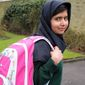 Malala Yousafzai, the Pakistani schoolgirl shot in the head by the Taliban, attends her first post-shooting day of school on Tuesday, March 19, 2013, just weeks after being released from the hospital. The 15-year-old participated in lessons at the Edgbaston High School for Girls in Birmingham, England. (AP Photo/Malala Press Office)