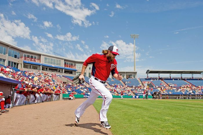 """Being a preseason pick to win the World Series is uncharted territory for the Nationals, but the players are taking nothing for granted after the loss to St. Louis that ended their 2012 season. """"What goes on in here  is something you can't really calculate,"""" Jayson Werth says. """"Everything else is other people's thoughts and projections. And they don't really matter."""" (Andrew Harnik/The Washington Times)"""