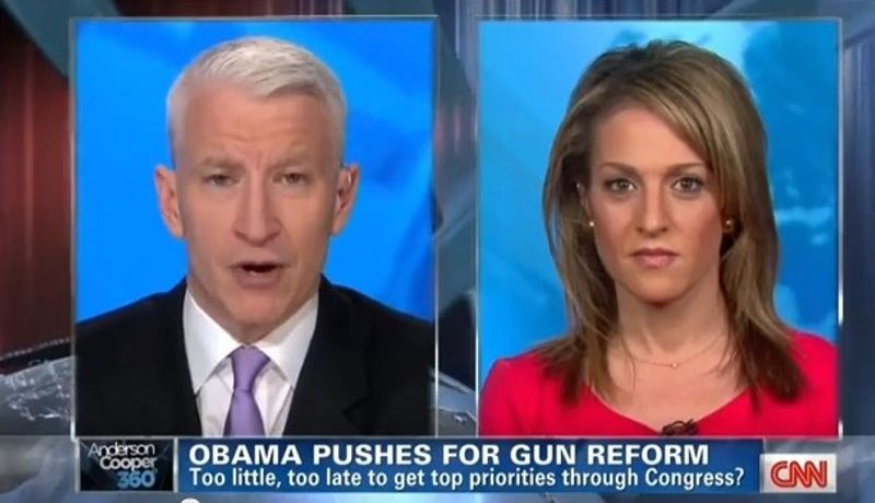 Emily Miller on CNN with Anderson Cooper. March 28, 2013.