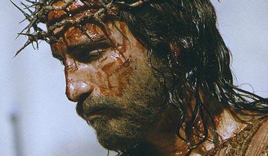"""Actor Jim Caviezel portraying Jesus in """"The Passion of the Christ."""" (Associated Press)"""