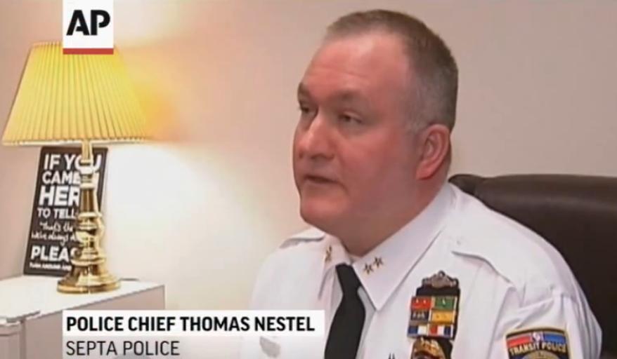Southeastern Pennsylvania Transportation Authority Police Chief Thomas Nestel III. (Screen shot from AP video)