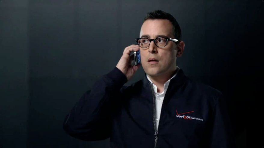 """This Verizon Wireless ad used the company's well-known slogan, """"Can you hear me now?"""""""