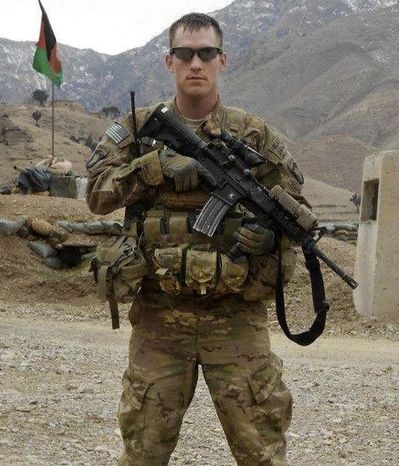 Sgt. Michael C. Cable, 25, of Philpot, Ky., was killed by an Afghan teenager who stabbing the soldier in the neck while the GI played with a group of local children, officials said on Monday, April 1, 2013. (AP Photo/U.S. Army)