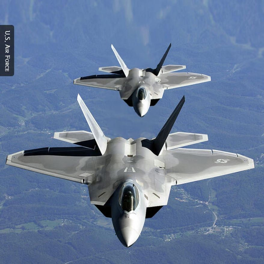 The U.S. embassy in Seoul, South Korea, tweeted this picture of two F-22 Raptors on a recent training flight.