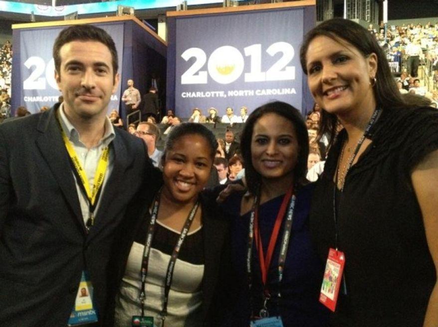 Former DNC spokesperson Karen Finney attends the 2012 Democratic National Convention in Charlotte, N.C. (Twitter, Karren Finney)